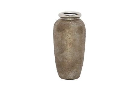 16 Inch Metallic & Stone Finish Vase