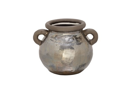 10 Inch Metallic Hammered Pot