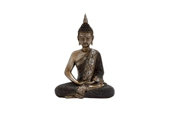 Resin Black And Brown Sitting Buddha