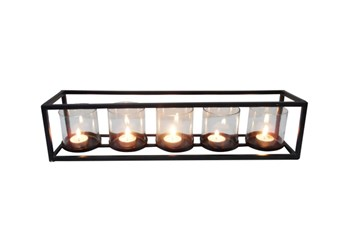 5 Votive Metal And Glass Candleholder