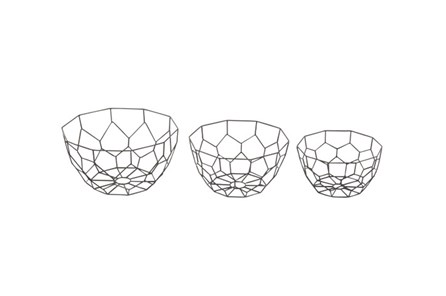 3 Piece Set Black Metal Dishes