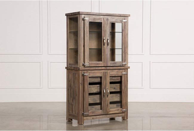 Mallard Glass Door Curio Cabinet - 360