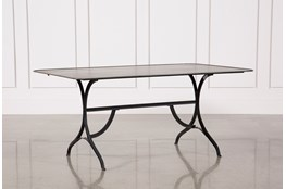 Antique Scrubbed Iron & Olive Scrubbed Iron Dining Table