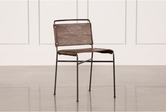 Distressed Brown & Waxed Black Dining Chair - 360
