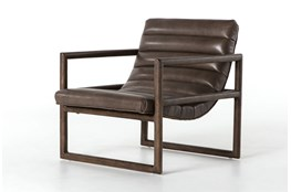 Dakota Fossil & Rubbed Sienna Brown Accent Chair