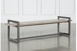 Salvage Grey & Gunmetal 76 Inch Large Bench