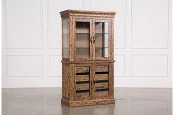 Partridge Glass Door Curio Cabinet