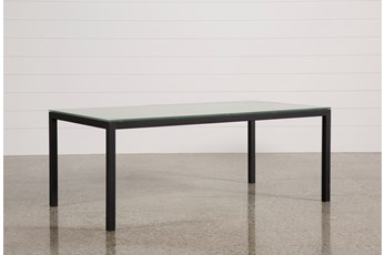 Ina Matte Black 78 Inch Dining Table W/Frosted Glass