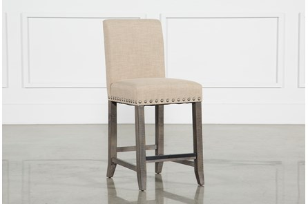 Jaxon Grey Fabric Counterstool