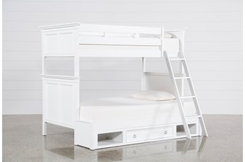 Albany Twin Over Full Bunk Bed With Drawer Base