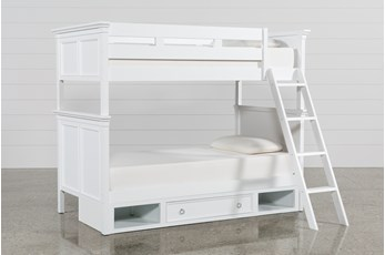 Albany Twin Over Twin Bunk Bed With Drawer Base