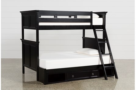 Savannah Twin Over Full Bunk Bed With Drawer Base