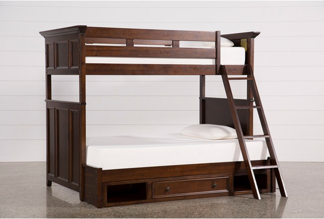 Dalton Twin Over Full Bunk Bed With Drawer Base - 360