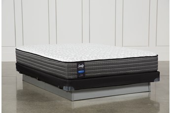 Butterfield Cushion Firm Queen Mattress W/Low Profile Foundation