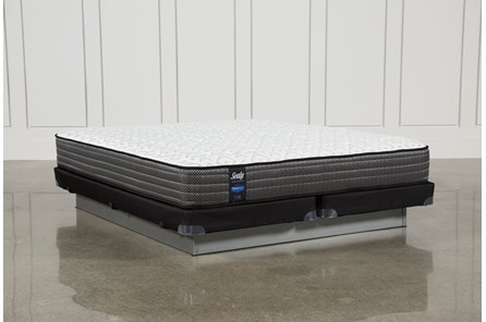 Butterfield Cushion Firm Cal King Mattress W/Low Profile Foundation