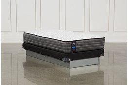 Butterfield Cushion Firm Twin Mattress W/Low Profile Foundation