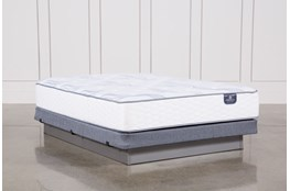 Coralview Plush Full Mattress W/Low Profile Foundation