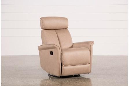 Labaron Sand Swivel Glider Recliner W/ Adjustable Headrest