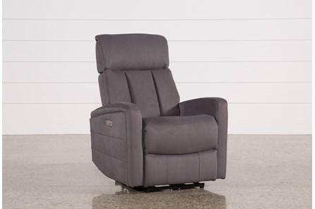Leena Dark Grey Power Wallaway Recliner W/ Adjustable Headrest