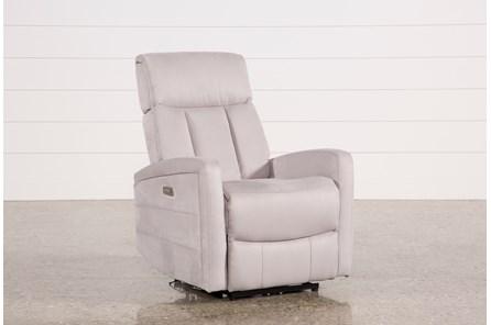 Leena Light Grey Power Wallaway Recliner W/ Adjustable Headrest