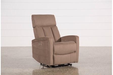 Leena Mocha Power Wallaway Recliner W/ Adjustable Headrest