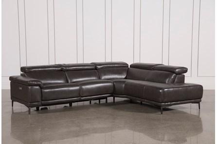 Tatum Dark Grey 2 Piece Sectional W/Raf Chaise