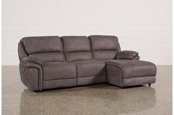 Norfolk Grey 3 Piece Sectional W/Raf Chaise