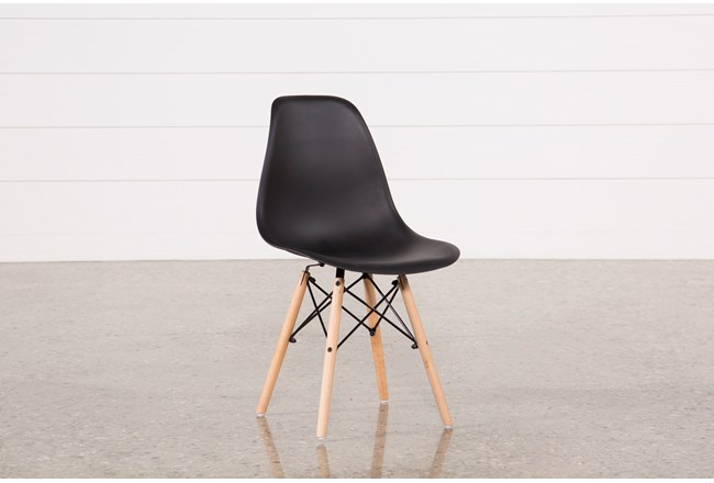 Cole Black Side Chair - 360