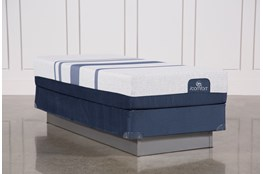 Blue 300 Twin Extra Long Mattress W/Foundation