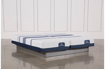 Blue 300 Eastern King Split Mattress Set