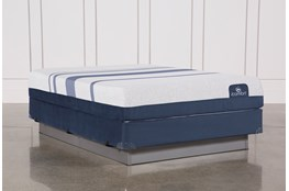 Blue 300 Queen Mattress W/Foundation