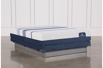 Blue 300 Queen Mattress W/Low Profile Foundation