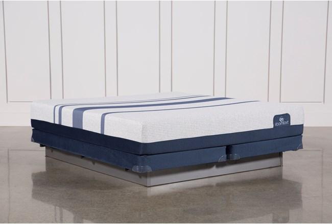 Blue 300 Eastern King Mattress W/Low Profile Foundation - 360