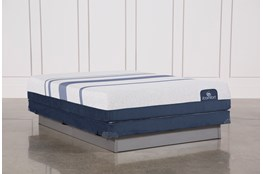 Blue 500 Queen Mattress W/Low Profile Foundation