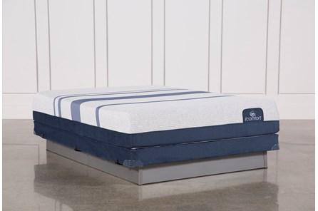 Blue 500 Queen Mattress W/Low Profile Foundation