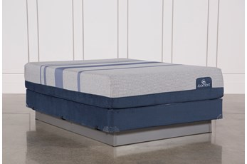 Blue Max 1000 Plush Queen Mattress W/Foundation