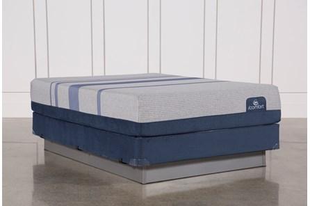 Blue Max 1000 Plush Queen Mattress W/Foundation