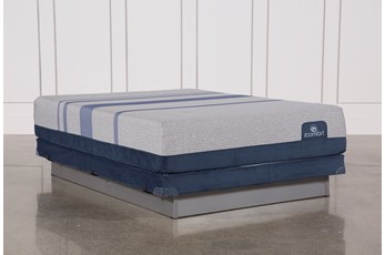 Blue Max 1000 Plush Queen Mattress W/Low Profile Foundation