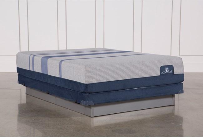 Blue Max 1000 Plush Queen Mattress W/Low Profile Foundation - 360