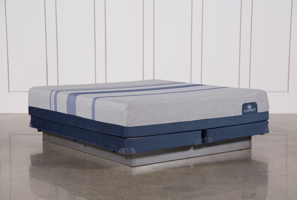 Blue Max 1000 Plush Eastern King Mattress W/Low Profile Foundation