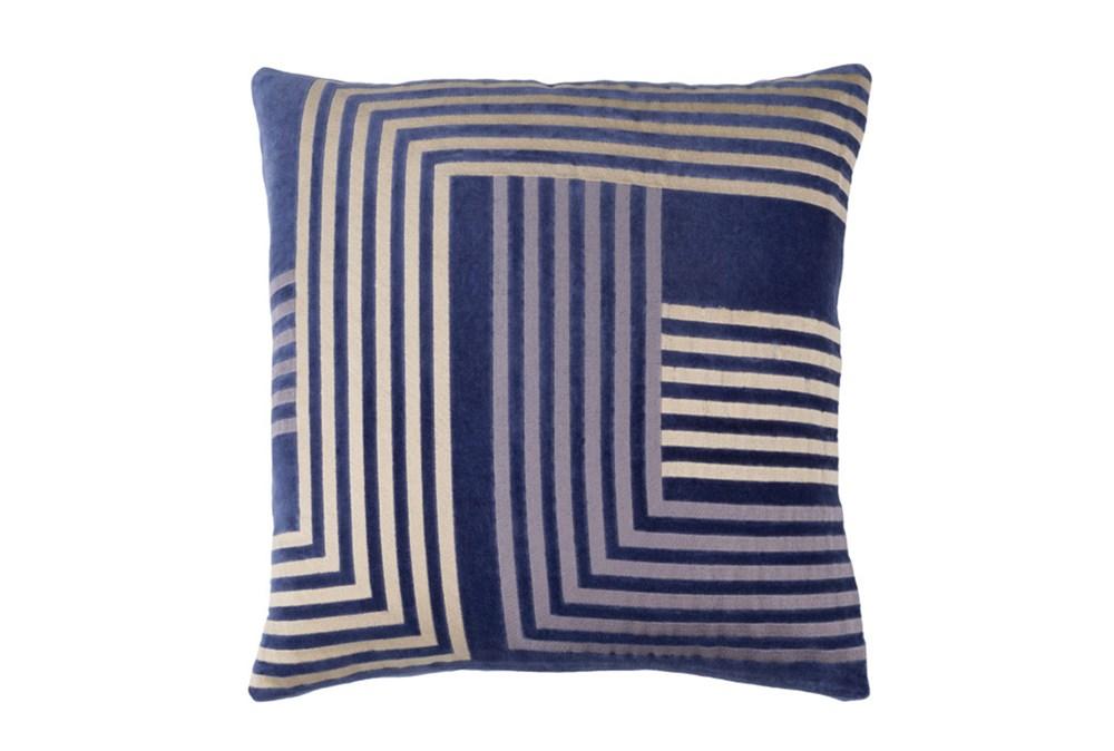 Accent Pillow-Navy Overlap 18X18