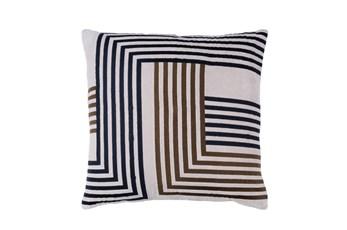 Accent Pillow-Navy Overlap 20X20