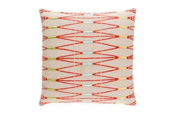 Accent Pillow- Beige Multi Zig Zag 18X18