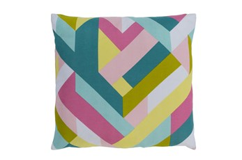 Accent Pillow-Seraphina Woven Geo Bright Multi 20X20