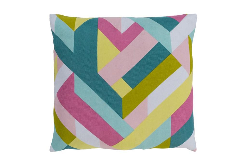 Accent Pillow-Seraphina Woven Geo Bright Multi 22X22