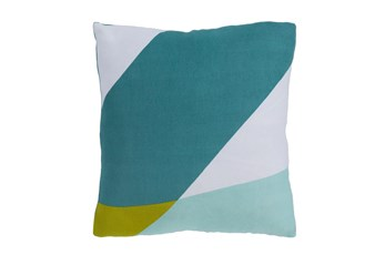 Accent Pillow-Color Block Aqua/Green 20X20