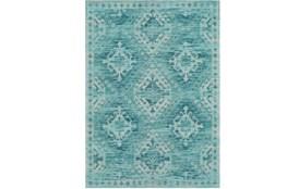 96X120 Rug-Wesley Diamond Turquoise