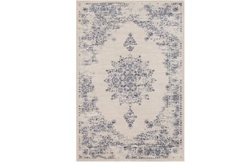 94X126 Rug-Adia Medallion Blue