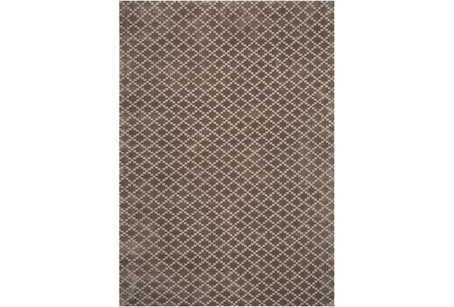 96X120 Rug-Diamond Check Mocha - 360
