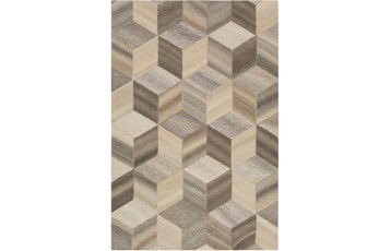 60X90 Rug-Geo Woven Natural Wool